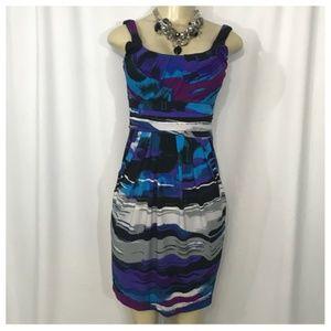 Multi-Color Print Dress